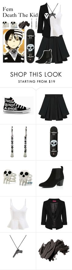 """""""Fem death the kid"""" by deathnotegirl101 ❤ liked on Polyvore featuring Converse, River Island, Boohoo, Zadig & Voltaire, Bobbi Brown Cosmetics, women's clothing, women, female, woman and misses"""