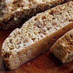 The recipe that made me love biscotti. No butter or oil, healthy nuts, and a mere 53 calories per cookie.