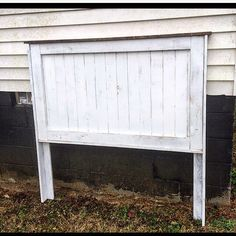 A personal favorite from my Etsy shop https://www.etsy.com/listing/496357621/plank-distressed-white-headboard-rustic