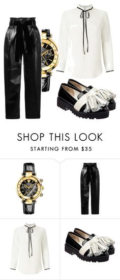 """""""Untitled #131"""" by gildaronca ❤ liked on Polyvore featuring Versace, Philosophy di Lorenzo Serafini, Miss Selfridge and Anouki"""