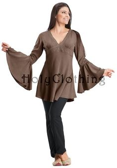 Shop Persephone Lace Trimmed Empire Waist Caftan In Brown Chocolate: http://holyclothing.com/index.php/persephone-boho-lace-trimmed-empire-waist-v-neck-caftan-tunic-top.html. Repins are always appreciated :) #HolyClothing #fashion #Lace #Trimmed #EmpireWaist #Caftan #Tunic #Top