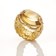 -GG-Cha-Citrin: Spitzen-Schmuck ring, Brigitte Adolph