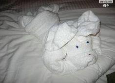 A arte de dobrar toalhas e fazer um bicho ou um objeto