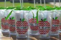 Teacher Appreciation Personalized Tumblers / Cups with straw