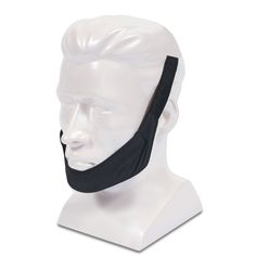 """Sunset Healthcare Solutions has designed a comfortable, easy to use, and effective adjustable chin strap for CPAP patients. Designed to mimic the popular ResMed standard chin strap design, the ResMed-Style chin strap includes lightweight, breathable material, a fabric """"cup"""" to hold the chin in place, and adjustable Velcro closures. A snug and secure design ensures that the patient's chin will be held in place while the patient enjoys a comfortable sleep experience."""