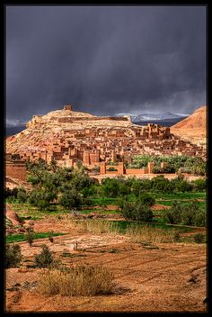 Aït Benhaddou, a fortified city on the caravan route between the Sahara and Marrakech, Morocco ~ UNESCO World Heritage Site.  Photo: Jasen Robillard via Flickr
