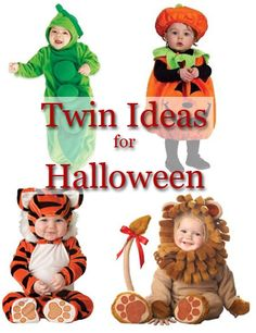 Themed Halloween costumes for twins or multiple children