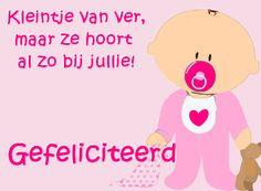 leuke adoptie felicitatie plaatjes: kleintje van ver maar ze hoort al zo bij jullie! leukeplaatjesz.nl