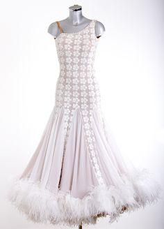 Abbey Clancy white ballroom dress