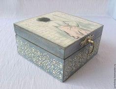 """Caixas artesanais.  Stash """"Parisienne"""".  junk shop (Lyudmila Barabanov).  Loja de Mestres Fair on-line.  Caixão, caixão para o needlework"""