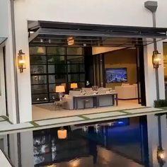 House Gate Design, Modern House Design, Door Design, Garage Design, Modern Houses, Exterior Design, Loft Interior Design, Home Room Design, Garage Interior
