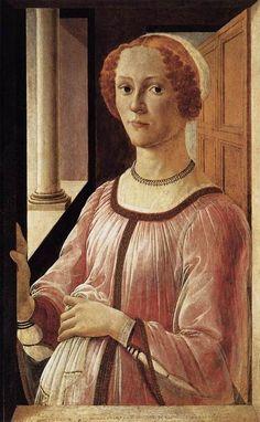 Portrait of a Lady (Botticelli c. 1470-75)