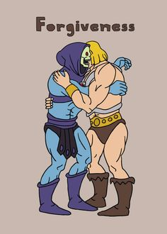 Forgiveness-HeMan-Skeletor (let's just say there's a kiss going on here)