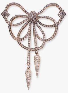 Lobanov- Rostovsky Collection ~ Diamond Bow Brooch