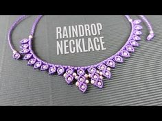Raindrop Macramé Necklace (Teaser) - YouTube