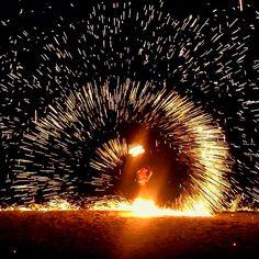 Fire Show,Flames Beach Restaurant @InterContinental Samui Baan Taling Ngam Resort