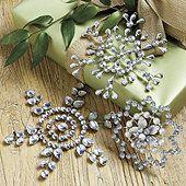 Suzanne Kasler Jeweled Snowflake Ornaments - Set of 3