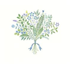 """Blue Bouquet"" −RiLi, picture book, illustration, design ___ ""青色の花束"" −リリ, 絵本…"