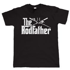 The Rodfather, Funny Mens Fishinger T Shirt - Birthday Gift For Dad Grandad Him Short Sleeve Discount 100 % Cotton T-Shirts Funny Fishing Shirts, Funny Shirts For Men, Fishing Humor, Dad To Be Shirts, Funny Tshirts, Fishing Tips, Fishing Stuff, Latest T Shirt, Vinyl Shirts