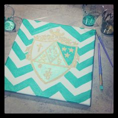 chevron canvas with sorority crest, perfect gift idea! Kappa Delta Sorority, Delta Phi Epsilon, Kappa Alpha Theta, Gamma Phi Beta, Tri Delta, Delta Gamma, Phi Mu, Sorority Life, Big Little Gifts