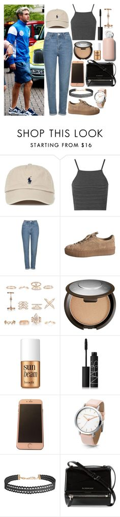 """""""Playing Pokémon Go with Niall"""" by phenomeniall-style ❤ liked on Polyvore featuring Topshop, New Look, Becca, Benefit, NARS Cosmetics, Humble Chic, Givenchy, bkr and NiallHoran"""