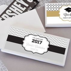 Event Blossom's Personalized Candy Bar Wrapper Covers are the perfect favor for a Graduation Party because Nothing is Sweeter than Success!
