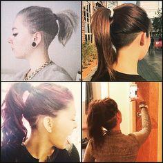 long hair undercut ponytail - Google Search