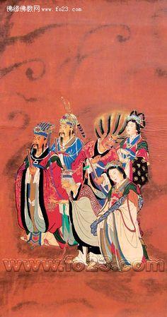 The deities of Sun, Jupiter, Mars, Venus, Mercury, and Saturn