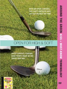 A high & soft shot gives you a higher ball flight with a soft landing. Perfect for getting over a bunker to a tight pin.