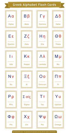 Greek alphabet cards on the greek letters alphabet stencils greek letter wall es art how to write the greek alphabet 4 greek alphabet flip dropsPrintable… Greek Alphabet, Alphabet For Kids, Ancient Alphabets, Alphabet Cards, Greek Mythology, Lettering, Teaching, Writing, Learn Greek Language