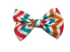 Chevron fabric hair bow   #chevron #sock #bun #hair #bow