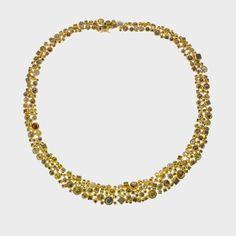 Todd Reed  trdn600-2 | 18ky gold, rose cut diamonds (50.78ctw), and raw diamond cubes (18.70ctw)
