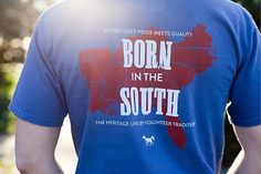 Born in the South - Navy with Red