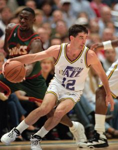 John Houston Stockton began his basketball career at his hometown of Spokane, Washington, where he played for the little known Gonzaga University basketball team. Description from hoophandbook.com. I searched for this on bing.com/images