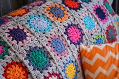 Crochet throw - finished 6
