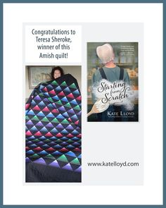 Yay, I found my Old Order Amish quilt giveaway winner!