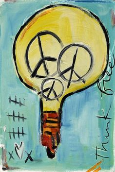"""Light Bulb"" by Tori Campisi  Painting Print on Canvas"