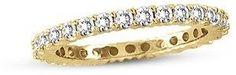 Suzy Levian 14k White Gold 1/2 Ct Tdw Diamond Eternity Band Ring.