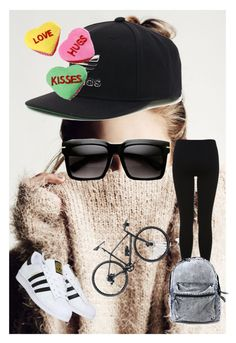 """LOVE HUGS KISSES #17"" by dzenitabesic ❤ liked on Polyvore featuring adidas, Gucci and Miss Selfridge"