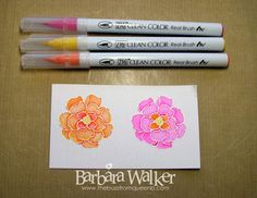 The Buzz: Day 23 - 30 Day Coloring Challenge 2. I watercolored this floral from Stampin' Up's Secret Garden stamp set, using Zig Clean Color Real Brush pens. Details on my blog. Click the pic!