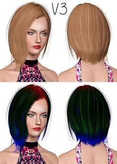 Newsea`s Black Bullet hairstyle retextured by July Kapo for Sims 3 - Sims Hairs - http://simshairs.com/newseas-black-bullet-hairstyle-retextured-by-july-kapo/