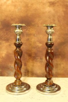 Vintage art deco candlesticks,Pair,  Good Condition, shabby chic, retro by bespokebydionne on Etsy