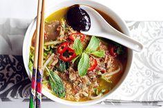 Penang Assam Laksa Recipe (Nyonya Hot and Sour Noodles in Fish Soup) | Easy Asian Recipes at RasaMalaysia.com