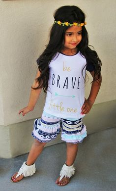 """Be Brave Little One"" Aztec Shorts Set #boutique-outfits #clearance #daily-deal…"