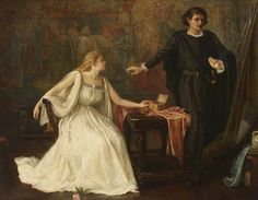 Hamlet and Ophelia  by Agnes Pringle  Oil on canvas, 102.9 x 128.3cm  Collection: Chiswick Town Hall