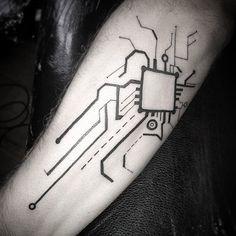 circuit board tattoo - Google Search