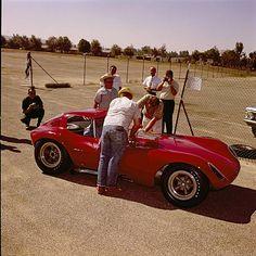 Bill Thomas Chevrolet Cheetah GT Race Car brought to Riverside International Raceway for initial track testing