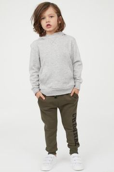 Slim-fit sweatpants in a soft cotton blend with a printed design. Boy Haircuts Long, Little Boy Haircuts, Boys Long Hairstyles, Young Boys Fashion, Cute Kids Fashion, Little Boy Fashion, Toddler Boy Long Hair, Toddler Girl, Long Hair Cuts