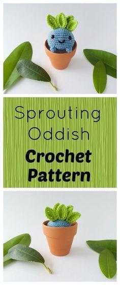 Free Crochet Pattern - Amigurumi Oddish Pokemon