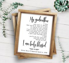 """A personalized godfather poem is a unique godfather proposal idea to ask """"will you be my godfather?"""" or a meaningful godfather christening gift. Godparent Poems, Godparent Gifts, Gifts For Godparents Baptism, Baptism Gifts For Boys, Godchild Gift, Baptism Cards, Godfather Gifts, The Godfather, Godmother Poem"""